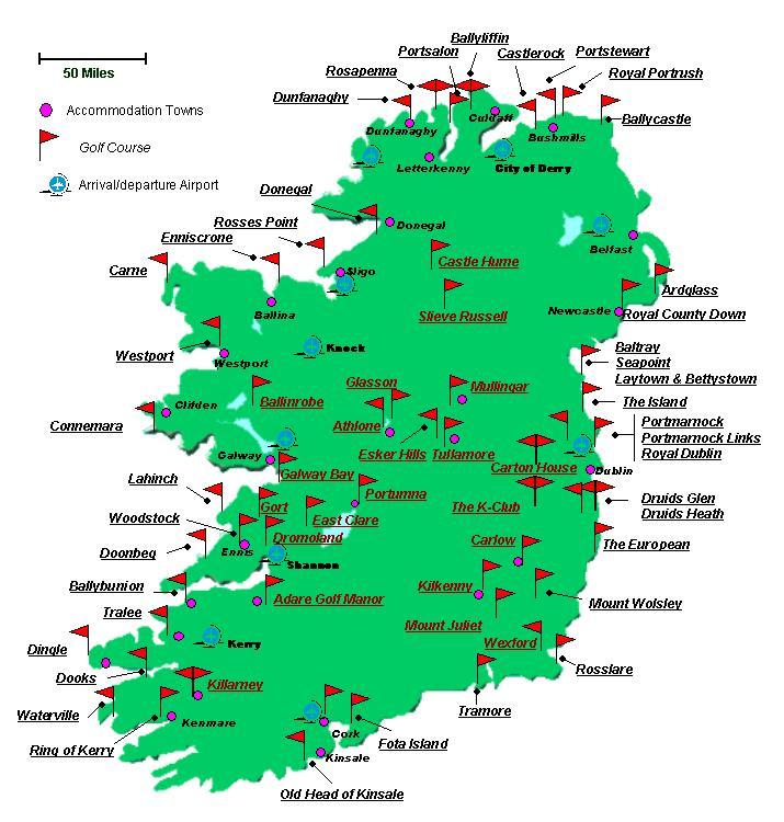 Golfkarta irland